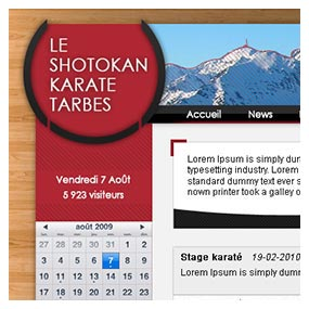 Shotokan Karaté Tarbes poster website